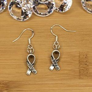 Jewelry - Ribbon Hope .925 Silver Hook Earrings